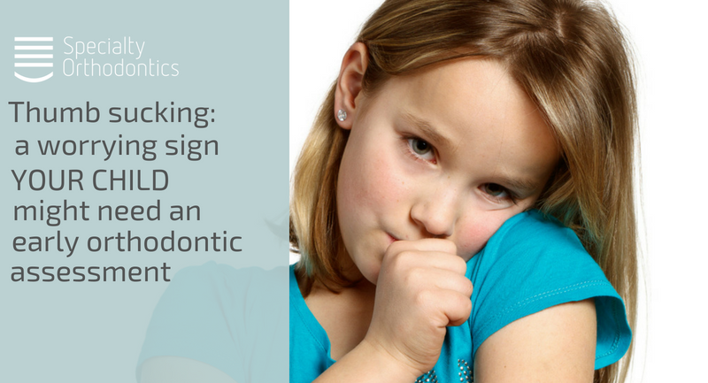 Thumb sucking: a worrying sign your child might need an early orthodontic assessment